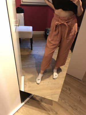 Zara 7/8 Length Trousers rose-gold-coloured-pink