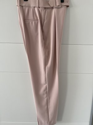Schlaghose aus Zara in Rosé inkl. Gürtel
