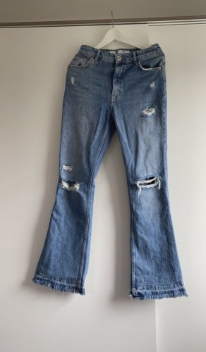 Bershka Jeans flare bleuet