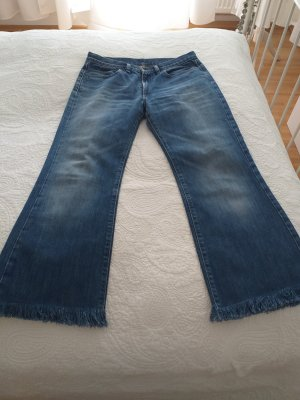 Diesel Boot Cut Jeans dark blue-steel blue cotton