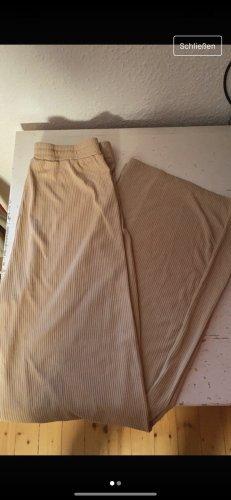 Sheinside Pantalon pattes d'éléphant rose chair-beige