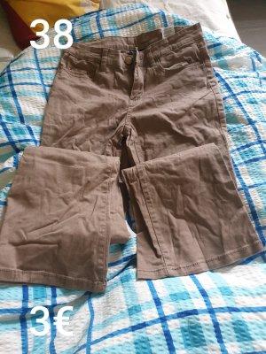 Pantalone a zampa d'elefante marrone