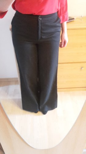 Trevira Pantalon pattes d'éléphant noir