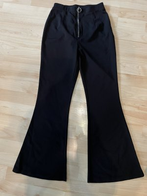 SheIn Pantalon pattes d'éléphant noir
