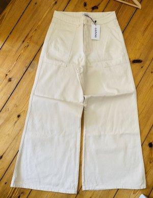 Ganni Pantalon pattes d'éléphant blanc cassé