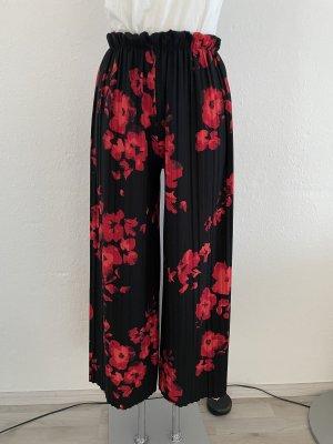 Pantalón de campana negro-rojo