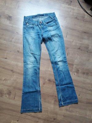 Miss Sixty Jeans flare bleu coton