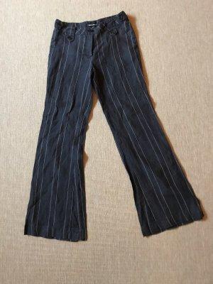Tally Weijl Pantalon pattes d'éléphant noir-blanc coton