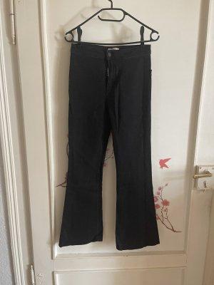 Bershka Pantalon pattes d'éléphant noir
