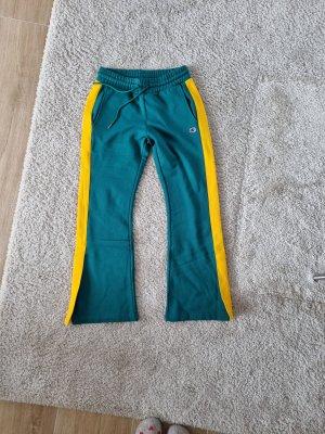 Champion Pantalone a zampa d'elefante giallo-verde bosco