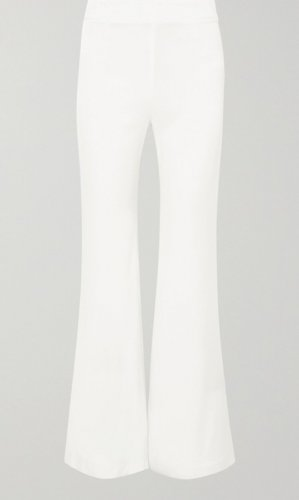 Pull & Bear Pantalone a zampa d'elefante bianco