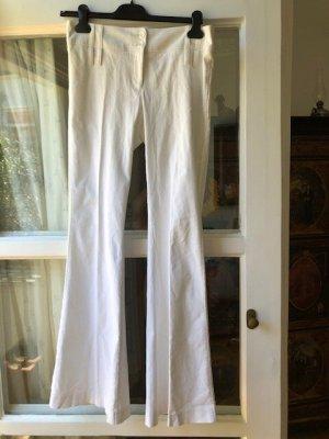 Hallhuber Pantalone a zampa d'elefante bianco Cotone