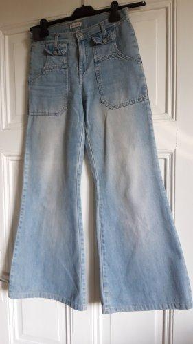 Pantalon pattes d'éléphant bleu azur