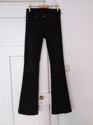 Zara Woman Jeansowe spodnie dzwony czarny
