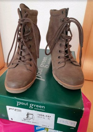 Paul Green Décolleté stringata grigio-beige Pelle