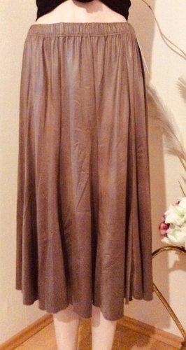 Magna Flared Skirt light brown polyester