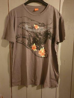 schlammfarbenes T-Shirt von Hugo Boss