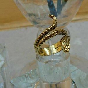 Schlange Ring Verstellbar Gr.20