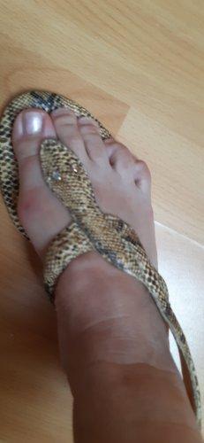 Office London Sandalo infradito con tacco alto color cammello