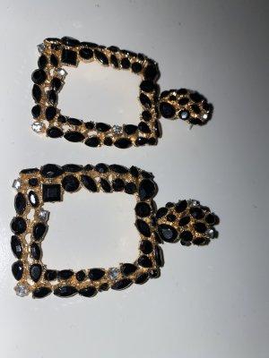 Bijou Brigitte Ear stud gold-colored-black