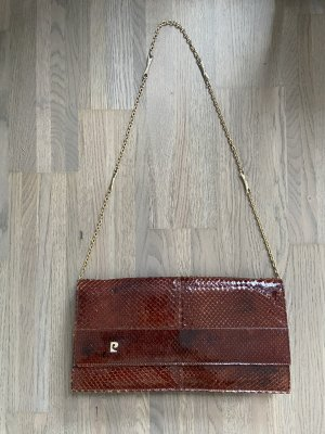 Clutch cognac-coloured-brown red