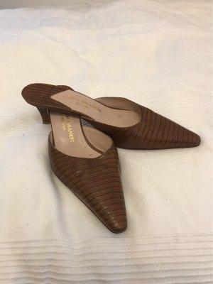 Gianni Milanesi Zapatos de punta coñac