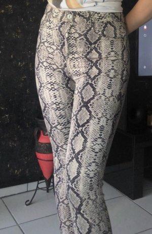 Bershka Pantalon taille haute brun