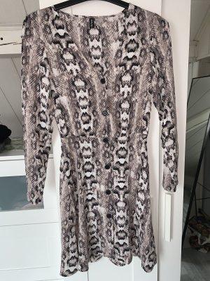 Schlangenmuster Kleid