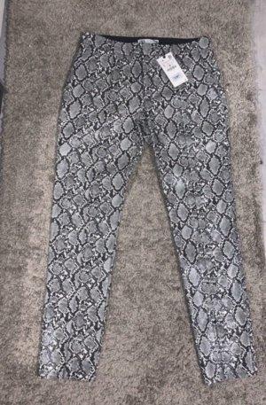 Zara Pantalone in pelle argento-grigio chiaro