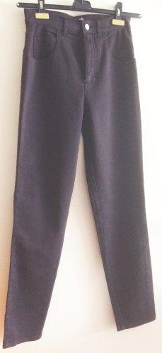 Giorgio High Waist Trousers dark brown cotton