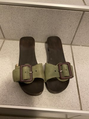 Clog Sandals dark green
