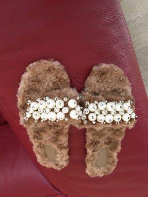 Dianette sandalen lichtbruin
