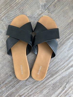 Deichmann Comfort Sandals black