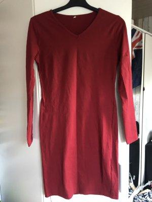 Tube Dress dark red