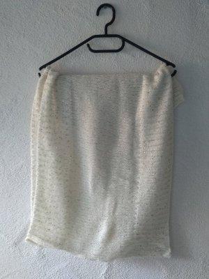H&M Bufanda tubo blanco-color oro