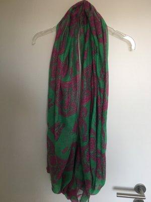 Halsdoek groen-roze