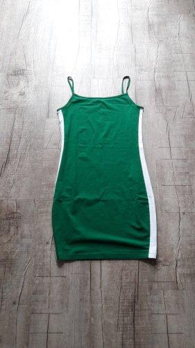 Sukienka tuba zielony-biały Bawełna