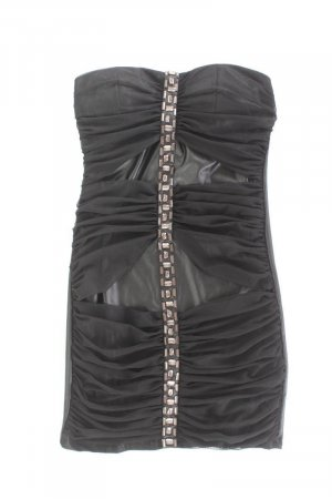 Robe tube noir polyester