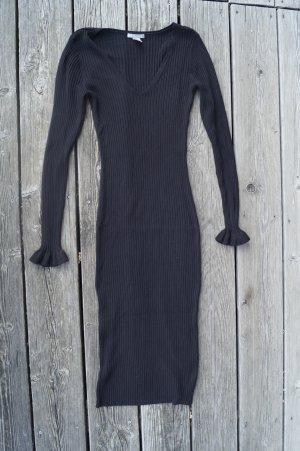 H&M Vestido de tubo negro Viscosa