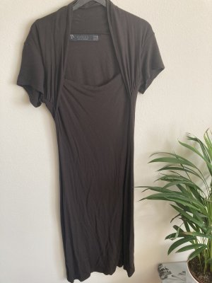 Zara Basic Tube Dress black brown-dark brown