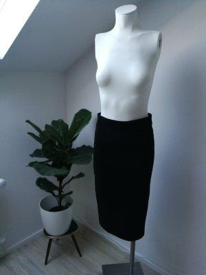 Schlauchrock, schwarz gerippt