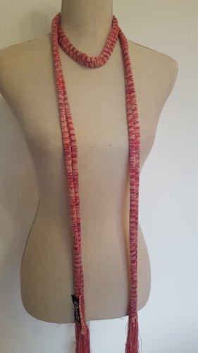 Tubesjaal lichtroze-roze