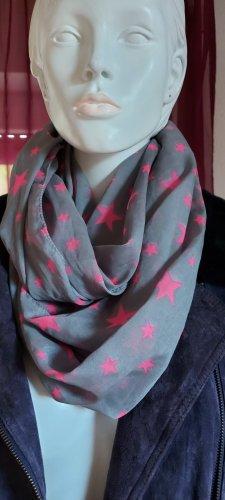 Tubesjaal lichtgrijs-roze