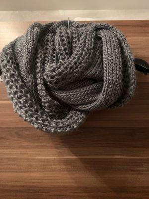 Bufanda de ganchillo marrón-marrón claro