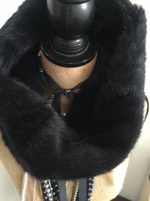 Manor Tubesjaal zwart bruin-zwart