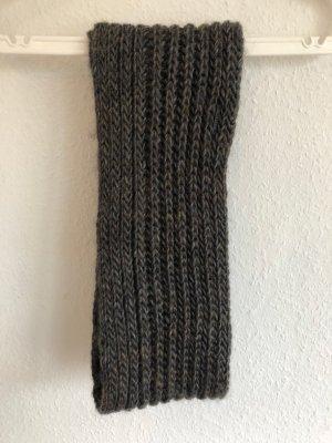 Seeberger Bufanda tubo marrón oscuro-gris oscuro Lana