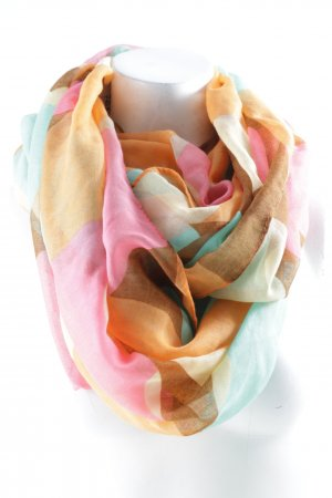 Tube Scarf abstract pattern casual look