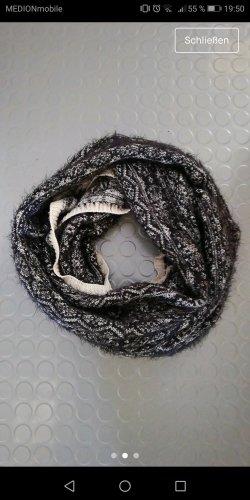 H&M Bufanda tubo blanco-negro