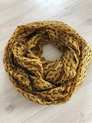 Pieces Tube Scarf dark brown-gold orange
