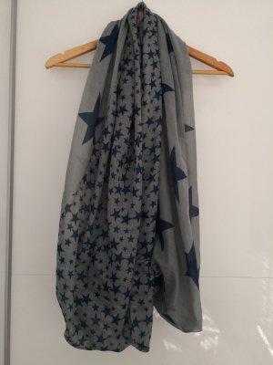 Écharpe tube gris-bleu foncé